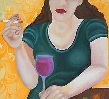 Red Wine I by Julia Keil