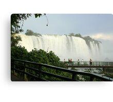 Walkway Iguassu Falls Canvas Print