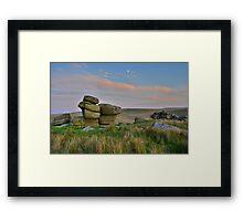 Dartmoor: The Moon Over the Moor Framed Print