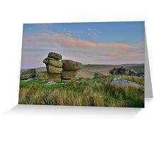 Dartmoor: The Moon Over the Moor Greeting Card