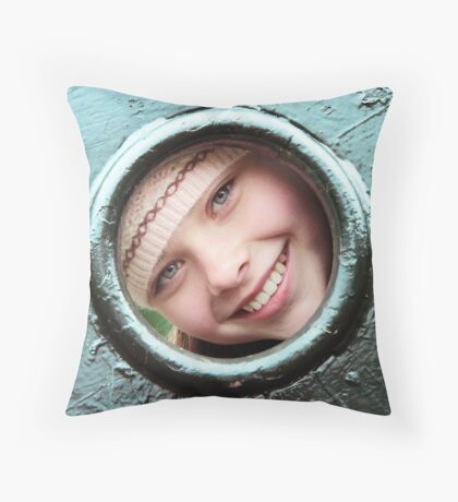 Beth Peeping! Throw Pillow