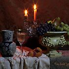 Wine and Candles (still life) by FrankSchmidt
