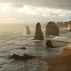 Twelve Apostles in mist by Rob Chiarolli