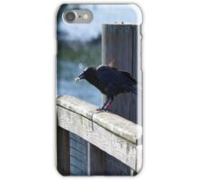 Crow Catches Salmon iPhone Case/Skin