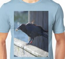Crow Catches Salmon Unisex T-Shirt