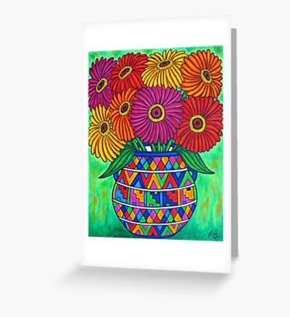 Zinnia Fiesta Greeting Card