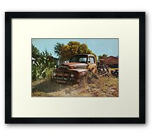 Cactus & The Pick-up Truck Framed Print