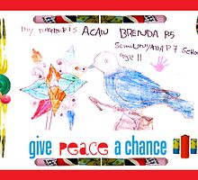 CH Give Peace a Chance, 4x6 greeting card by division25
