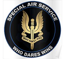 Special Air Service Logo Poster