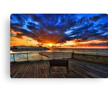 The bench is waiting for ya ! Canvas Print