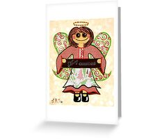 Christmas Angel - spreading seasons greetings. Greeting Card