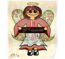 Christmas Angel - spreading seasons greetings. Poster