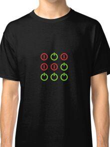 Power Up! Power Off! Hacker Glider Symbol Classic T-Shirt