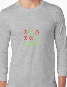 Power Up! Power Off! Hacker Glider Symbol Long Sleeve T-Shirt