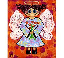 Groovey Angel - She's a hippy chick! Photographic Print