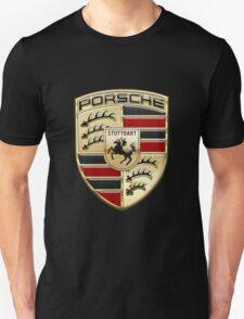 Porsche - 3D Badge on Black T-Shirt