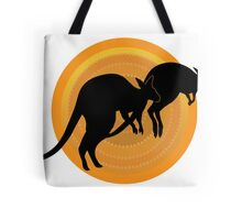 Kangaroos Running Tote Bag
