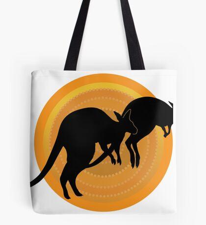 Kangaroos Running Tote Bag