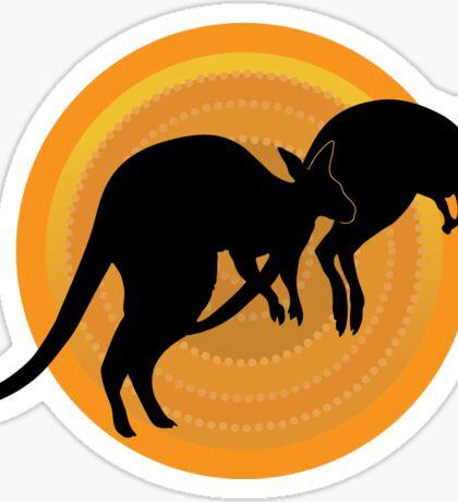 Kangaroos Running Sticker