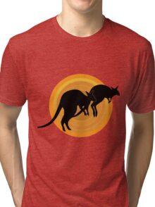 Kangaroos Running Tri-blend T-Shirt