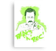 Parks n Rec 420 Canvas Print