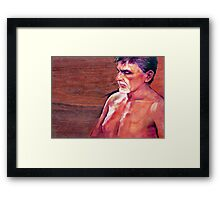 Portrait of a Man Framed Print