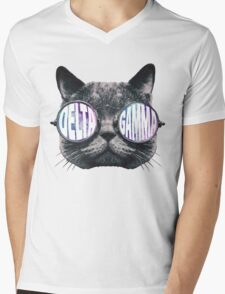 Delta Gamma Cat Galaxy Mens V-Neck T-Shirt