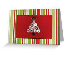Christmas Tree Button Card Greeting Card