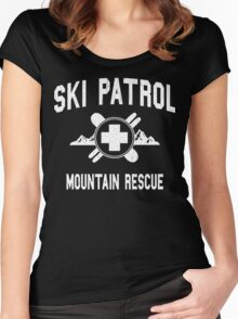 Ski Patrol & Mountain Rescue (vintage look) Women's Fitted Scoop T-Shirt