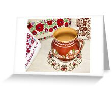 Hungarian Pottery and Pillows Greeting Card