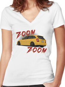 Zoom Zoom Women's Fitted V-Neck T-Shirt