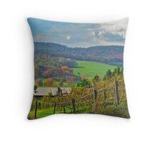 Mountain Vineyard Throw Pillow