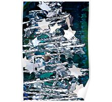 Silver Star Christmas Tree Poster