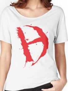 Diamanda Hagan D-H Logo (Red) Women's Relaxed Fit T-Shirt