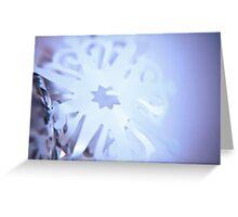 Sparkling Blue Snowflake Greeting Card
