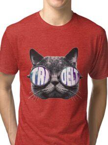 Tri Delta Cat Galaxy Tri-blend T-Shirt