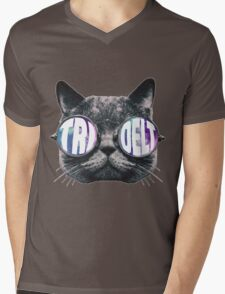 Tri Delta Cat Galaxy Mens V-Neck T-Shirt