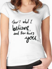 """There's What I Believe..."" Quote From 'In The Flesh' Women's Fitted Scoop T-Shirt"