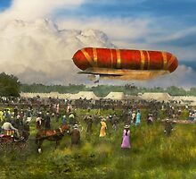 Steampunk - Blimp - Launching Nulli Secundus II 1908 by Mike  Savad