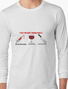 TGIT - Scandal - Greys Anatomy - How To Get Away With Murder Long Sleeve T-Shirt