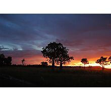 Sunset on King River - East Kimberley  Photographic Print