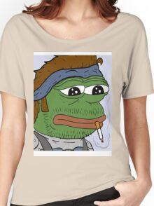 Pepe smoke frog  Women's Relaxed Fit T-Shirt