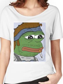 Pepe smoke frog  Women's Relaxed Fit T-Shirt