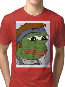 Pepe smoke frog  Tri-blend T-Shirt