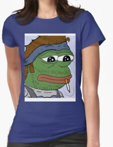 Pepe smoke frog  Womens Fitted T-Shirt