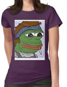 Pepe smoke frog  Womens Fitted T-Shirt