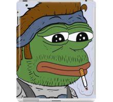 Pepe smoke frog  iPad Case/Skin