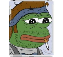 Pepe smoke frog  iPad Case/Skin