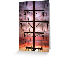 Powered Sunset Greeting Card