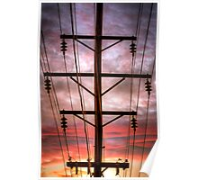 Powered Sunset Poster